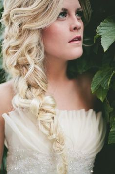 wedding hair fishtail braid - Google Search