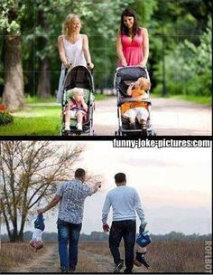 Funny Men vs Women Childcare Picture