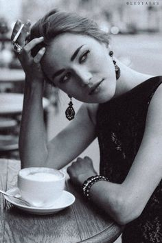 fashion photoshoot cafe smoking cup photography olesyavas