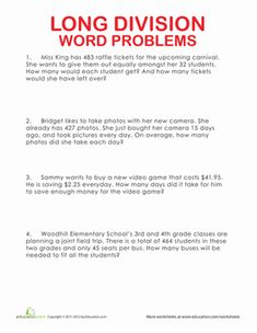 Solutions of Word Problems Involving Equations