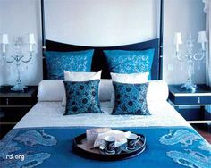 Make A Serene Atmosphere With Blue Bedroom:Blue Bedroom Color Schemes, Bedroom, Color Combinations, Colorful Design, Blue Bedroom Girls Bedroom, Green Bedroom Decor, Bedroom Design, Blue Bedroom Decor, Blue Bedding, Simple Bedroom, Bedroom Colors, Bedroom Color Schemes, Interior Design Bedroom