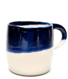 Indigo Dipped mug by Rachel Howe of Small Spells