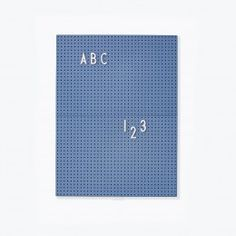 A small message A4 Blue board for small notes. Or for kids to practice letters and words