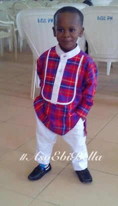 rocked this African attire with panache African Inspired Fashion, Latest African Fashion Dresses, African Men Fashion, Boy Fashion, Baby African Clothes, African Dresses For Kids, African Babies, African Children, African Attire