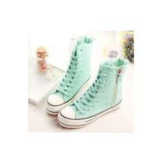 Pastel ❤ liked on Polyvore featuring shoes, sneakers, hi top canvas sneakers, canvas hi tops, high top trainers, canvas high tops and canvas sneakers
