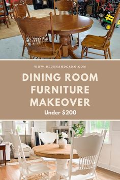 In this post I'll share how to best shop Facebook Marketplace, the tools we used for this project, and the step by step process for how we completed this dining room set! I hope this post helps and inspires you to makeover your own furniture. #furnituremakeover #homedecor #homedecorideas #diyproject #diyhomedecor