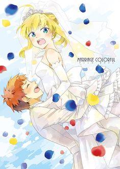 Emiya Shirou x Saber wedding Saber X Shirou, Shirou Emiya, Fate Zero, Fate/stay Night, Fate Stay Night Series, One Punch Anime, Arturia Pendragon, Fate Anime Series, Anime Couples Manga
