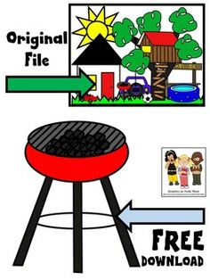 FREE home clip art. Charcoal grill in color and black and white. Image saved at a high resolution with no white background.Sampled from  HOME CLIP ART. The original clip art file is available for $4.50. Original file includes:* car* 2 types of grass* grill* house* lawn mower* lemonade stand* soccer ball* sunshine* swimming pool* tree house****************************************Molly Tillyer CLIP ARTTerms of UseARTClip art cannot be altered, resold, shared, or used to create new clip…