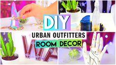 DIY Room Decor▲Urban Outfitters + Tumblr Style! - Bracelet Holder, Henna Letters. Wishing Bottle