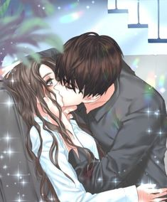 Romantic Anime Couples, Romantic Manga, Cute Couples, Anime Couple Kiss, Anime Kiss, Cute Love Stories, Cute Love Images, Anime Couples Drawings, Anime Couples Manga