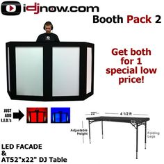 Portable DJ Booth | SPECIAL DEAL | CASES/RACKS | BOOTHPACK2