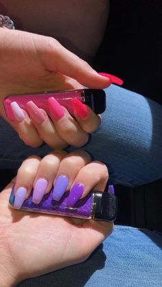 Hey guys it's me Kurly Queen Nd. I wanted to tell you that my birthday Hey Leute, ich bin es, Kurly Queen Nd. Summer Acrylic Nails, Best Acrylic Nails, Acrylic Nail Designs, Purple Acrylic Nails, Aycrlic Nails, Manicure, Nail Nail, Fire Nails, Dream Nails