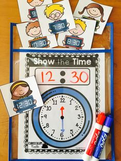 Telling time activities and math centers! Time to the hour and half-hour.