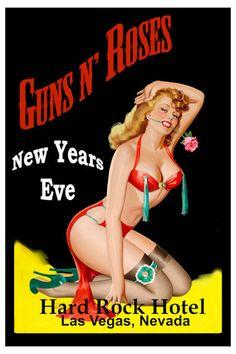 GUNS N ROSES Concert Poster Hard Rock Hotel Las Vegas. • 100% Mint unused…