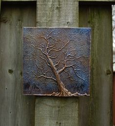 Tree Wall Art, Garden Plaque, Stormy Sky Tree Sculpture, Outdoor Tree Stone Art, Rustic Tree Art by InnovativeStoneArt on Etsy https://www.etsy.com/listing/120014528/tree-wall-art-garden-plaque-stormy-sky