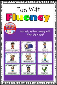 Reading Fluency Activity Fun With Fluency Silly Reading Workshop Reading Fluency Activities, Teaching Reading, Learning, Elementary Schools, Elementary Teacher, Reading Task Cards, High Frequency Words, Reading Workshop, Classroom Fun