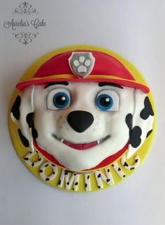 This is my first cake in 2017. I did it for my son's second birthday :) Paw Patrol is his favourite cartoon, Dominic just loves these doggies :)