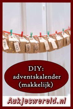 DIY adventskalender. Zo maak je snel en makkelijk een leuke adventskalender. Inclusief vultips voor hem, haar en kind! #adventskalender #diy #kerst Kind, Dutch, Triangle, Crafts, Advent Calendar, Dutch People, Dutch Language, Handmade Crafts, Diy Crafts