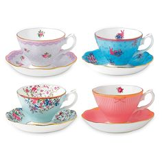 Shop Royal Albert - Candy Collection Teacup & Saucer Set at Peter's of Kensington. View our range of Royal Albert online. Why in the world would you shop anywhere else for Royal Albert? Royal Albert, Hot Candy, Pink Rabbit, Honey Bunny, Pattern Mixing, Tea Cup Saucer, Fine China, Tea Party, Dinnerware