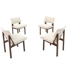 Set Of Four Mid Century Modern Side Chairs New Upholstery