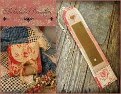 Fancy Heart huswife Needleroll ~ Threadwork Primitives