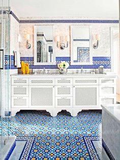 Cuarto de baño de estilo árabe