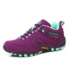 Women Hiking Shoes Man Waterproof Mountain Climbing Trekking Shoes Professional Breathable Outdoor Sneaker For Camping Travel Price: 22.62 & FREE Shipping #bag #chanel #clothes #siambrandname #followme #luxury #sbn #happy #follow #fashionblogger #summer #instadaily Climbing Outfits, Climbing Shoes, Rock Climbing, Purple Sneakers, Girls Sneakers, Women's Sneakers, Aqua Shoes, Trekking Shoes, Hiking Shoes