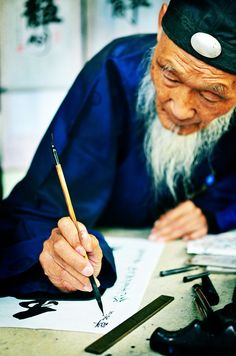 Calligrapher in Beijing, China