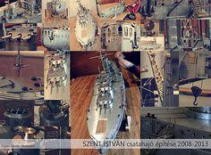 SMS SZENT ISTVAN dreadnought. World War I. Battleship of Austro-Hungarian Empire. Model made of metal
