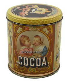 Vintage Tins, Vintage Coffee, Cocoa Chocolate, Tea Tins, Beverage Packaging, Tin Boxes, Tin Signs, Antique Items, Chocolates