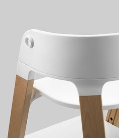 Details we like / Knob / Chait / Childrens Chair / White Plastic / Wood / Kitchen / at lemanoosh