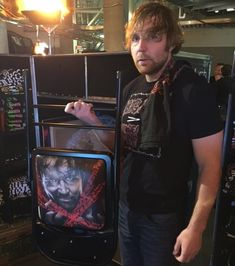 Photo of Dean Ambrose SIGNED Extreme Rules 2016 Event Chair