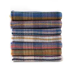 British Made 100% Recycled Wool Throw - The Future Kept