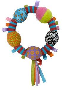 Kushies Zolo Tamborino Rattle. creative toys. stimulating. great for infants.