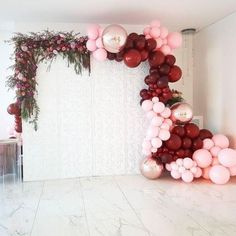 So inspired! Look at the chrome balloons Are those rose gold chrome-like balloons we see? Cant get enough of these colours Balloons by Wall by Flowers by Pink Balloons, Wedding Balloons, Birthday Balloons, Balloon Backdrop, Balloon Garland, Balloon Cake, White Backdrop, Birthday Party Decorations, Wedding Decorations