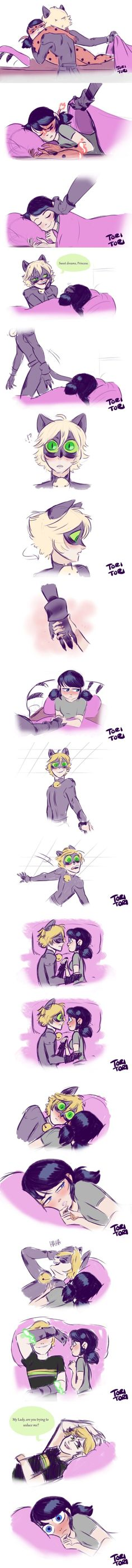 Adrien and Marinette (Miraculous: Tales of Ladybug & Chat Noir) Ladybug E Catnoir, Ladybug Und Cat Noir, Ladybug Comics, Ladybug And Cat Noir Reveal, Lady Bug, Anime Couples, Cute Couples, Cat Noir Cosplay, Les Miraculous