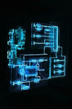 MAZE by Mabonona Big neon circuit boards by Hangzhou-based artist - via… Free Web Page, Gui Interface, Hot Wheels, Horizon Zero Dawn, Site Hosting, 3d Prints, Geek Art, Hangzhou, Maze