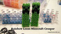 How to make Minecraft Creeper Action Figures on Rainbow Loom