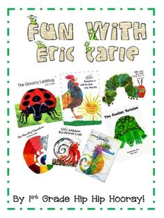 http://pinterest.com/cleverclassroom/eric-carle/ Eric Carle and the books in this packet are a terrific
