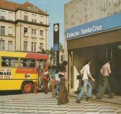 1977 - Acesso a Estação Santa Cruz do Metrô na avenida Domingos de Moraes.