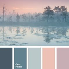It is appropriate to apply this colour palette for a room decorated in chalet style somewhere in the mountains, because it has collected a cool hues that w. (color themes for wedding gray) Colour Pallette, Colour Schemes, Color Combos, Winter Colour Palette, Color Azul, Pastel Colour Palette, Bedroom Colour Scheme Ideas, Calm Colors For Bedroom, Basement Color Schemes