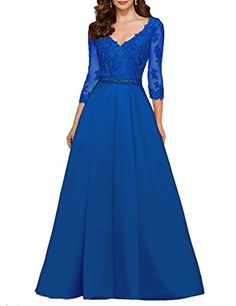 Pettus Women's V-neck 3/65 Sleeve Prom Dress Lace Long Ba... https://www.amazon.com/dp/B06WP2PD54/ref=cm_sw_r_pi_dp_x_bhIOybPBAFDRR