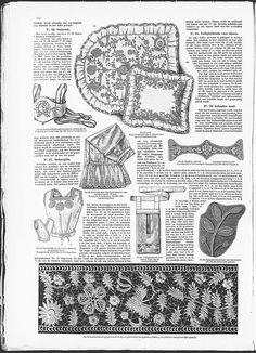 Art Nouveau embroidered safety bag for ladies, bag to wear under skirt.   (visit site for bigger picture)  Gracieuse. Geïllustreerde Aglaja, 1907, aflevering 13, pagina 170