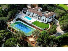 Imagine having this US open style tennis court in your backyard?  Ralston Av, Hillsborough, CA #luxuryrealestate