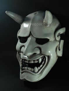 hannya mask Prop mask Handmade in Thailand. $79.00, via Etsy.