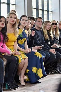 Michael Kors show - February 18 2015 The front row at Michael Kors.