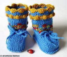 Babyschuhe Babystiefel  von stricklienes lädchen auf DaWanda.com