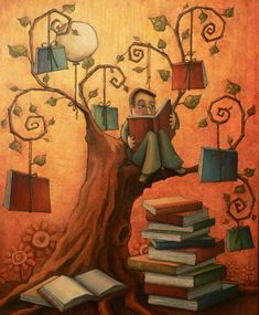 """With the help of his books..."" by Mónica de Silva"