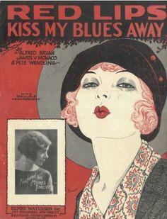 Red Lips Kiss My Blues Away Sheet Music