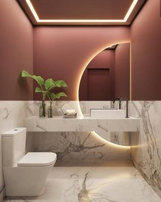 "Home Decor on Instagram: ""Describe this bathroom in ONE word 🧡 Follow @roomnest for more inspo 🧡 Credit: @arqnataliamarchioni . . #decoraninteriors#livingroomideas…"" Washroom Design, Toilet Design, Bathroom Design Luxury, Modern Bathroom Design, Modern Bathrooms, Beautiful Bathrooms, Home Room Design, Dream Home Design, Home Interior Design"